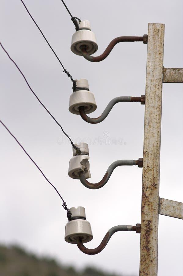 Old electric isolators royalty free stock photo