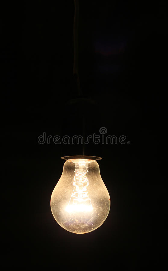 Old electric lightbulb stock images
