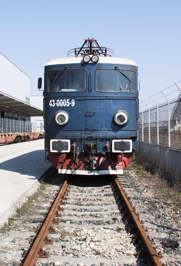 Old electric locomotive stock image