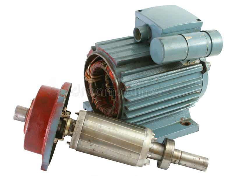 Download Old electric motor stock image. Image of isolated, stator - 11463633