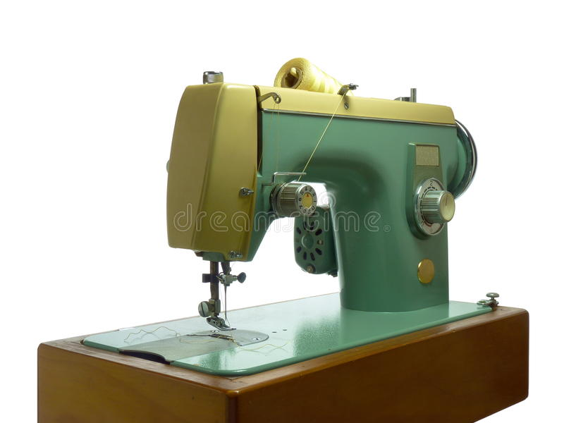 Old Electric Sewing Machine royalty free stock photography