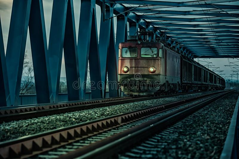 Old electric train royalty free stock photo