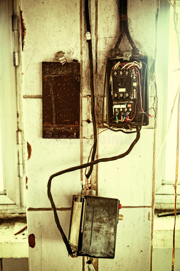 Old electrical wiring stock image. Image of wiring, toggle - 90060983