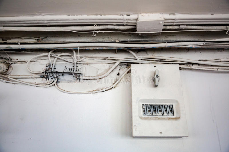 Old electrical wiring stock photo. Image of insecure - 90279754