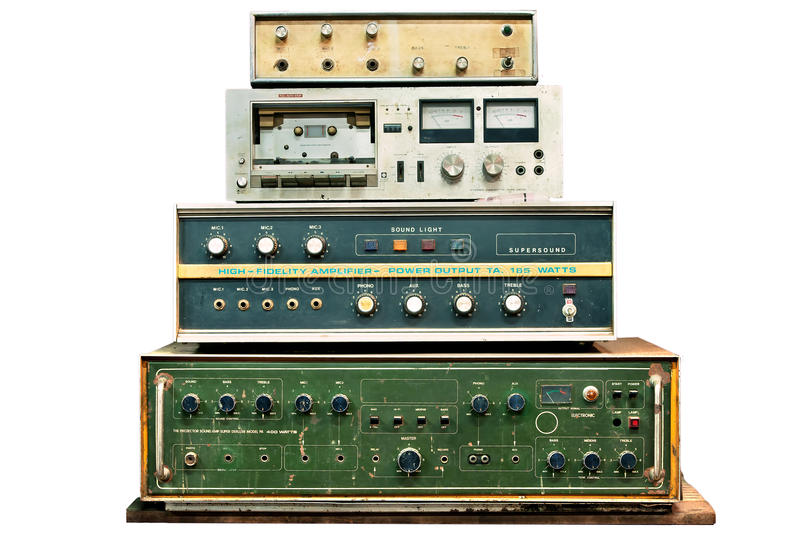 Old electronic control stock photo
