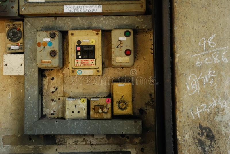 Download Old electronic switch stock image. Image of area, dusty - 26600649