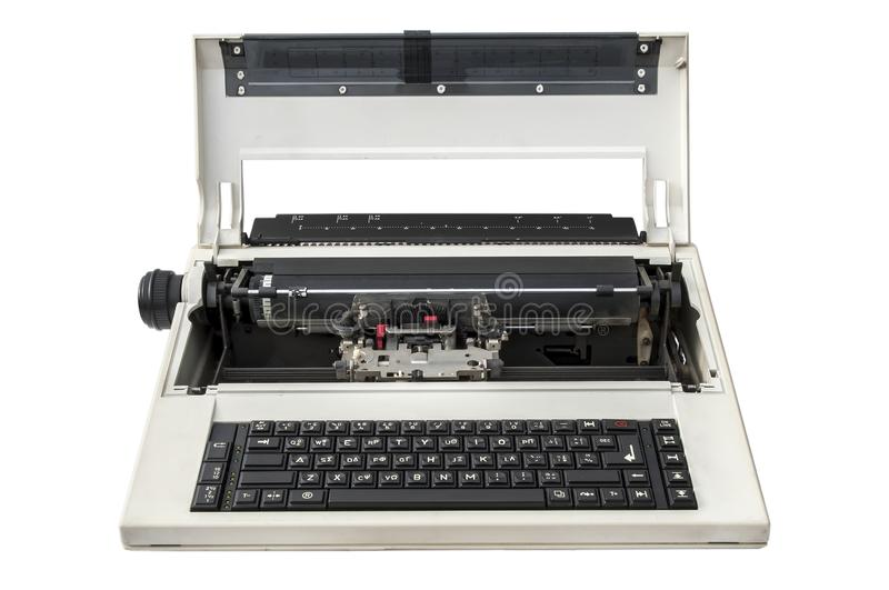 Electronic Typewriter isolated over white royalty free stock images