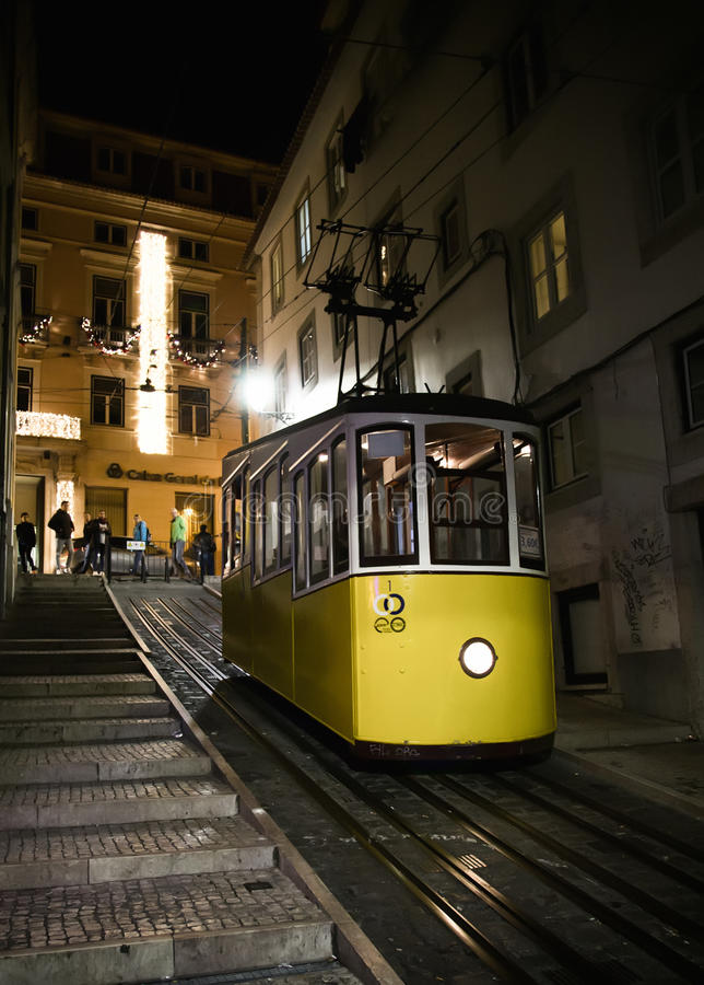 Old elevator in Lisbon. royalty free stock image