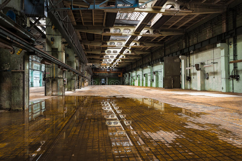 Old empty repair workshop royalty free stock photography