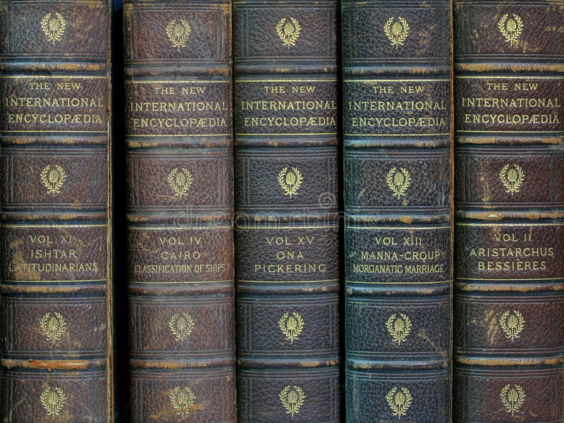 Old encyclopedias royalty free stock images