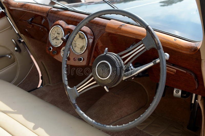 Old English car Triumph 1800 Roadster. MOSCOW, RUSSIA - JUNE 27, 2016:Old English car Triumph 1800 Roadster royalty free stock image