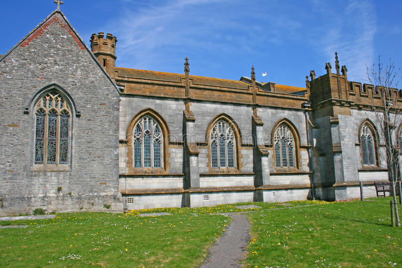 Old English church stock photo