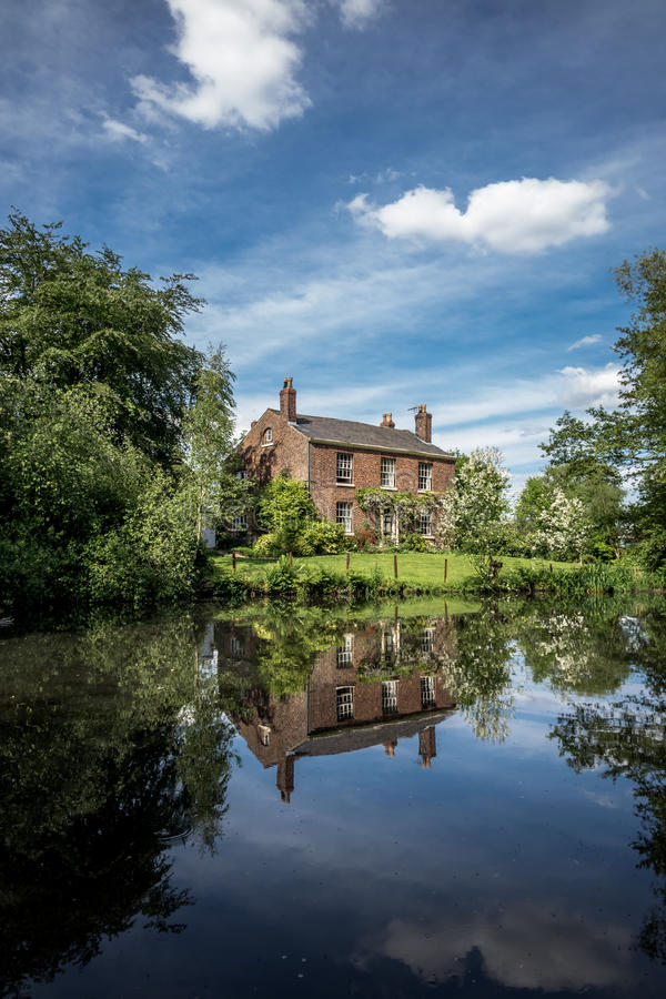 Download Old English Farm And Pond stock photo. Image of home - 40910854