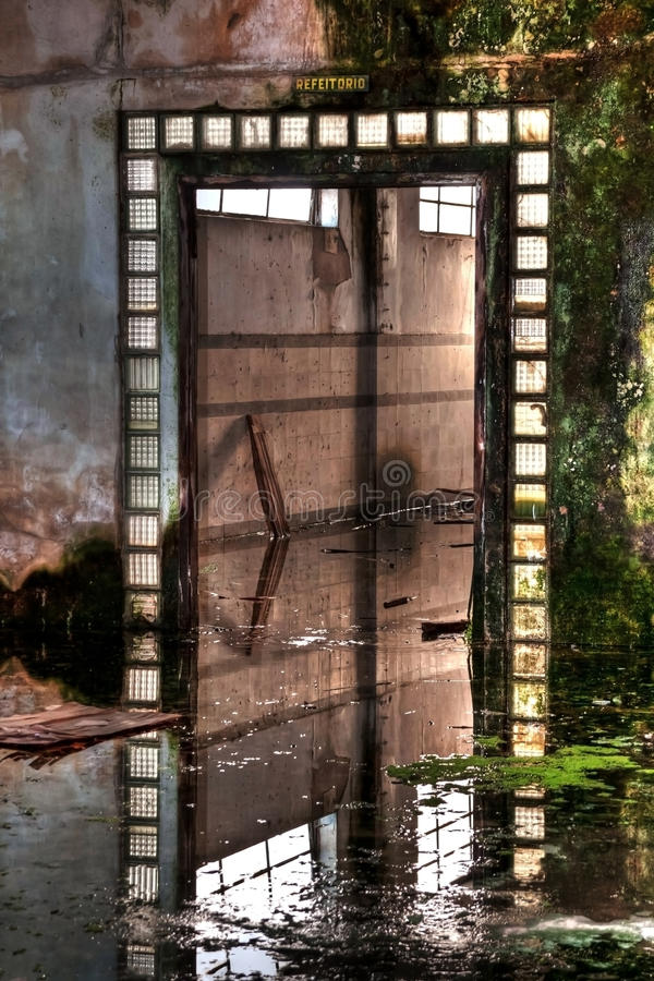 Download Old Entrance On Abandoned Factory Stock Image - Image of abstract, grunge: 18485501