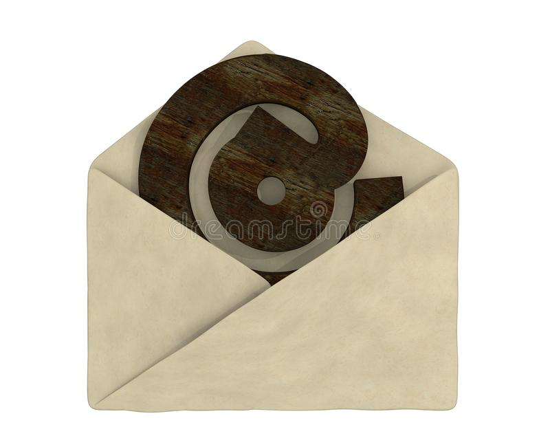 Download Old Envelope With E-mail Symbol Stock Photo - Image: 21507080