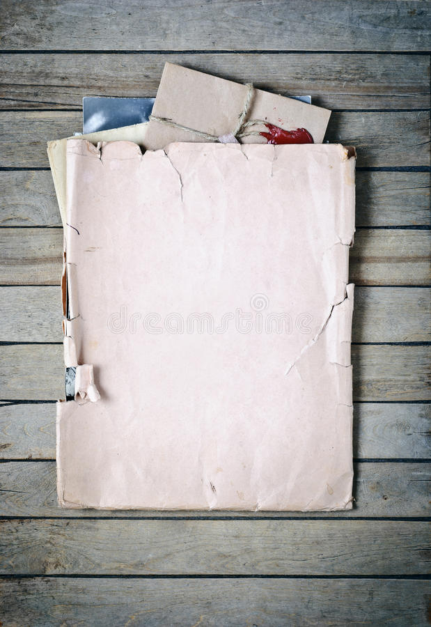 Download Old envelope with papers stock photo. Image of blank - 18951256