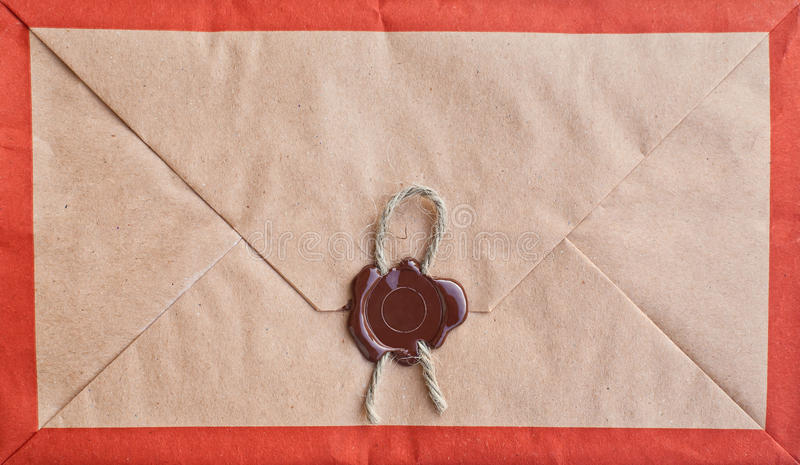 Old envelope with seal.