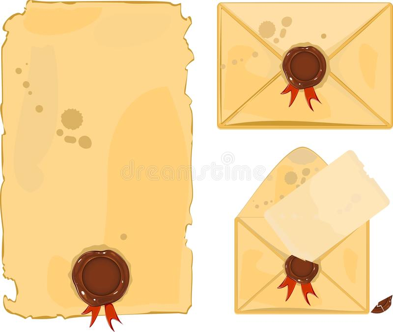 Download Old envelope stock vector. Illustration of messy, historic - 35188371
