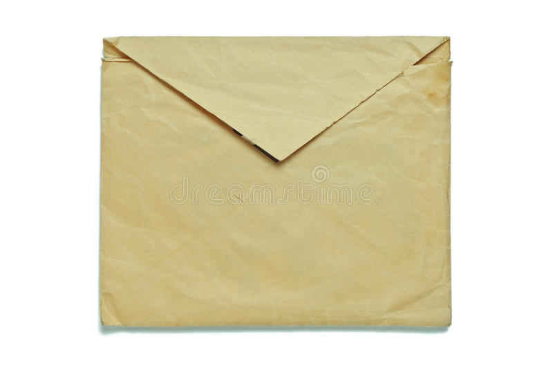 Download Old envelope on white stock image. Image of background - 27927135