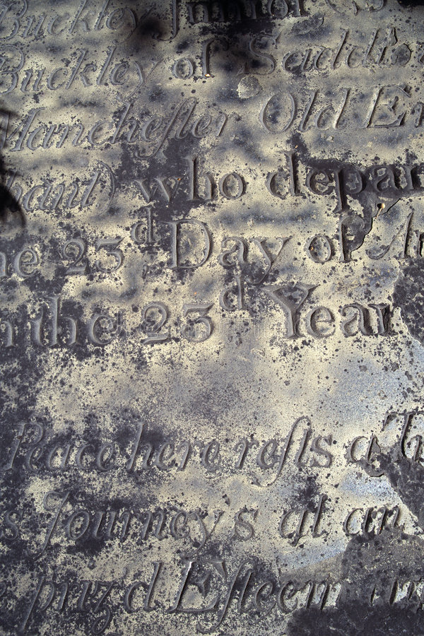 Old epitaph royalty free stock photos