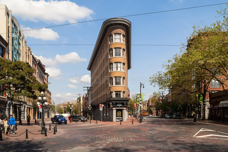 Old Europe Hotel building in Vancouver stock images