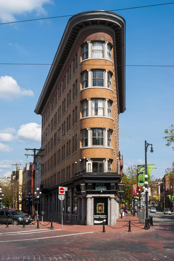 Old Europe Hotel building in Vancouver. Canada. Six-story heritage building, located in Gastown area, was built 1908-1909 by Parr and Fee Architects in stock photos