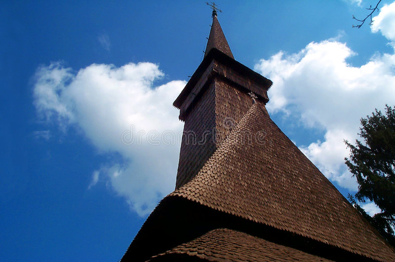 Download Old European church stock photo. Image of romania, maramures - 544