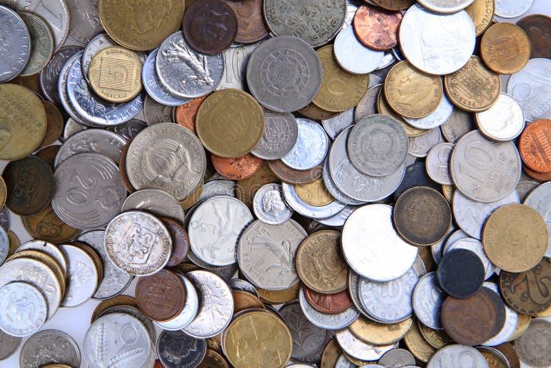 Old european coins royalty free stock photo