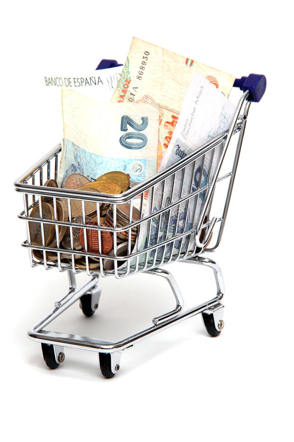 Download Old european currency stock image. Image of shoppingcart - 21747775