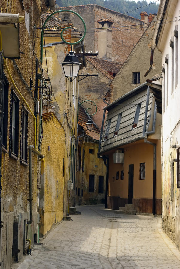 Download Old European street stock image. Image of house, european - 27338627