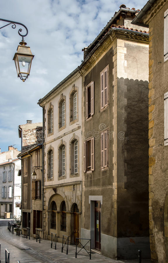 Old european streets in small village stock images