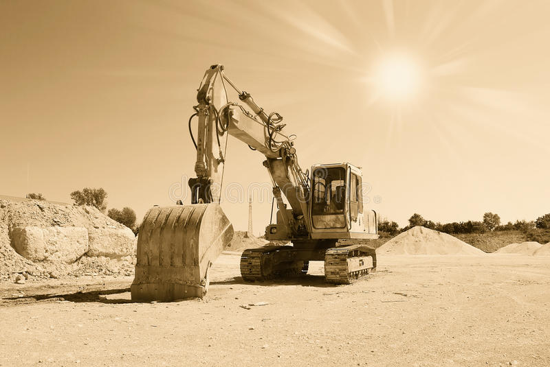Digger For Stone Stock Photo Image Of Cool Abstract