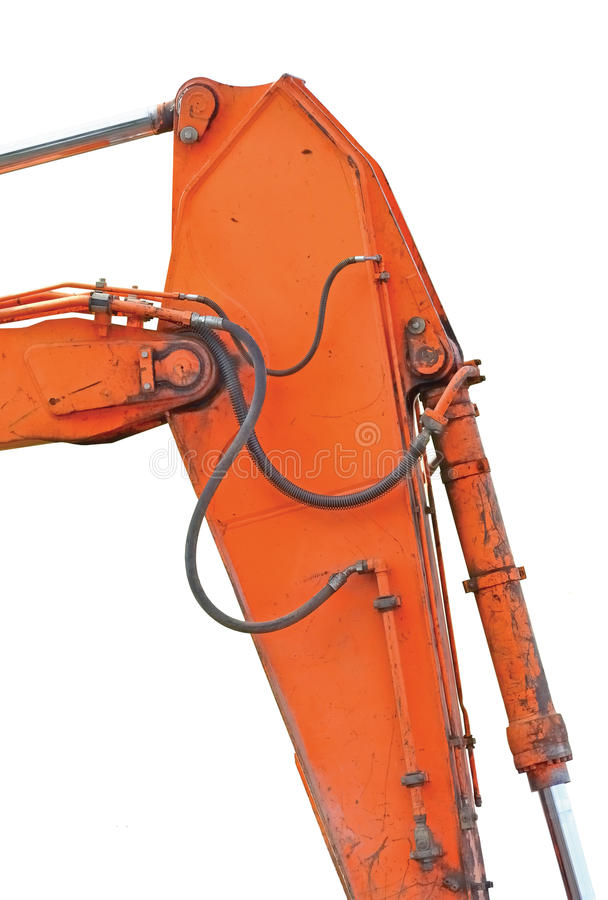 Old Excavator Dipper And Boom Vertical Isolated Royalty Free Stock Photo