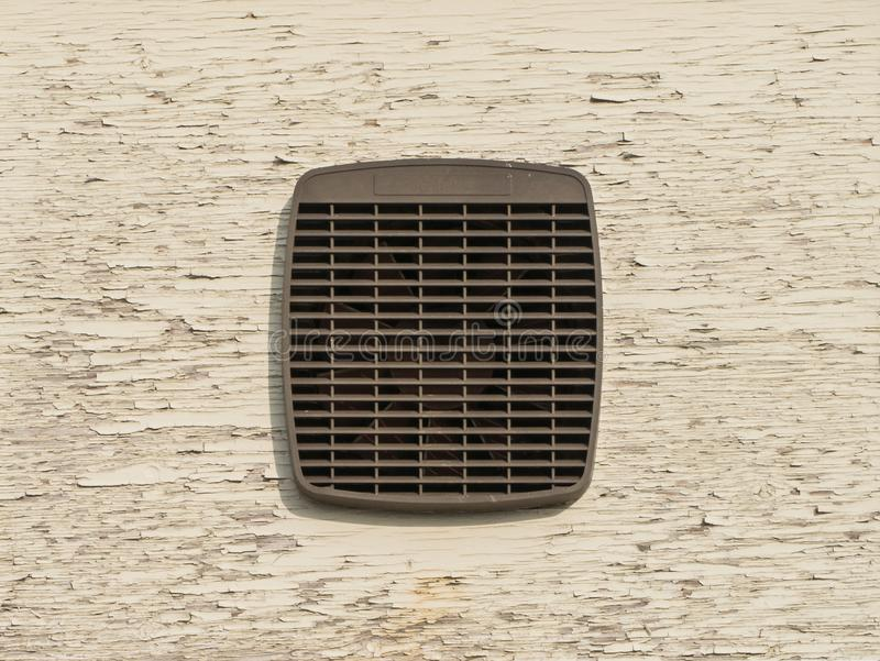 Retro Extractor Fan, Highfield Industrial Estate, Eastbourne, East Sussex, UK royalty free stock images