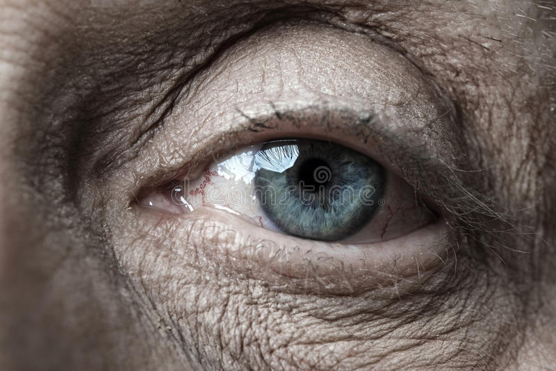 Old eye royalty free stock photography