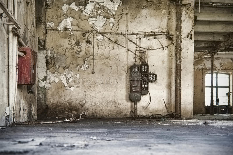 Download Old Factory Enviroment, Empty Building Stock Image - Image: 22882207