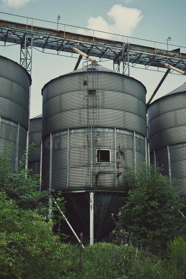 Download Old Factory Ironworks And Silos Stock Photo - Image: 30900514