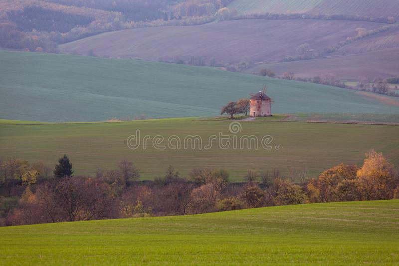 Old faery mill. Moravia, Czech Republic royalty free stock photography