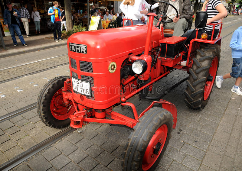 Download An old Fahr tractor editorial stock image. Image of veteran - 28435454