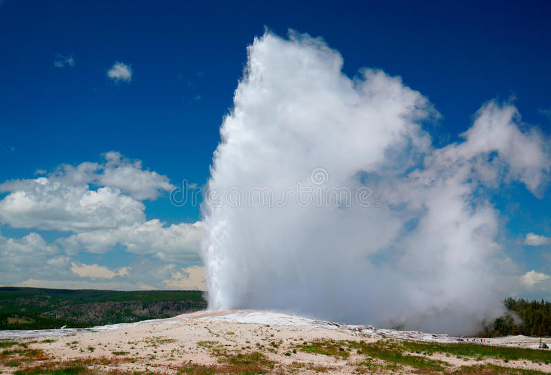 Old Faithful Geys royalty free stock images