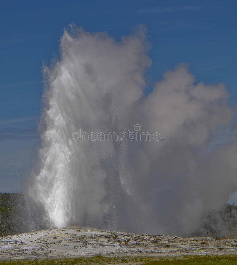 Old Faithful geyser in Yellowstone Nations Park