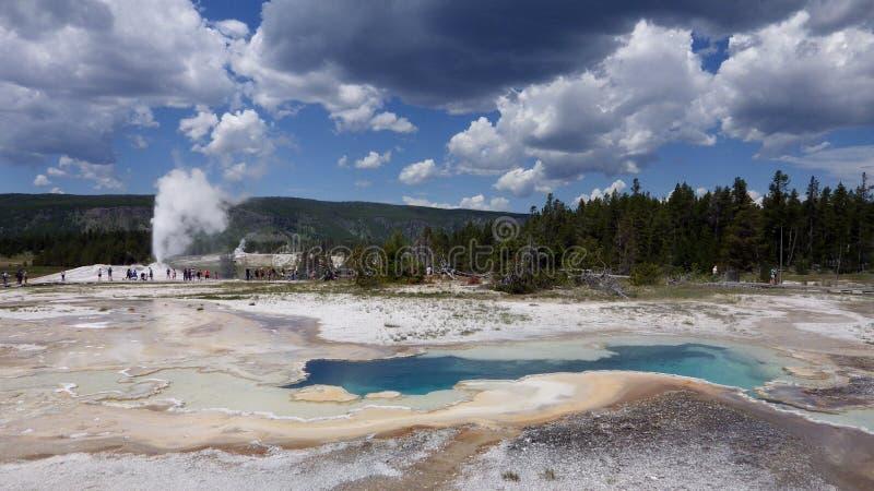 Old Faithfull, Yellowstone National Park stock photos