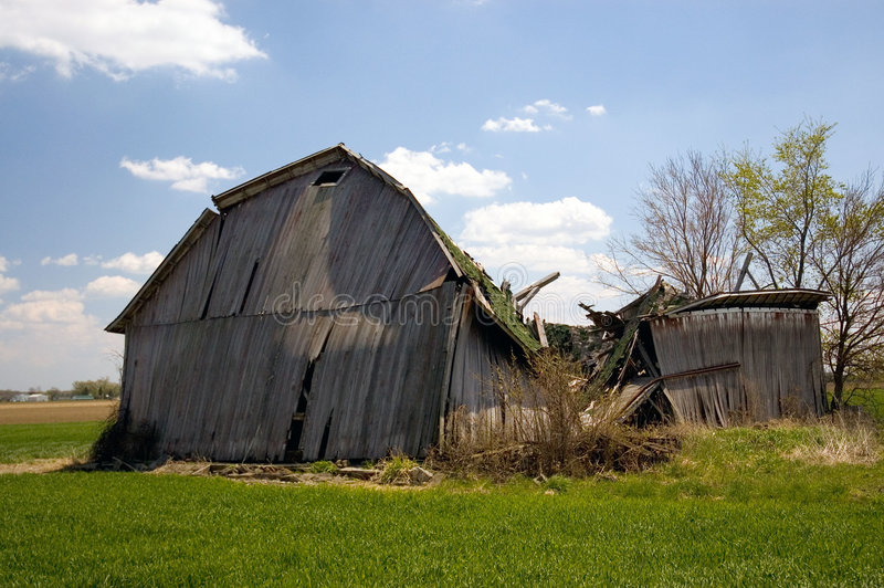 Download Old  Fallen Barn stock image. Image of farm, disrepair - 119171