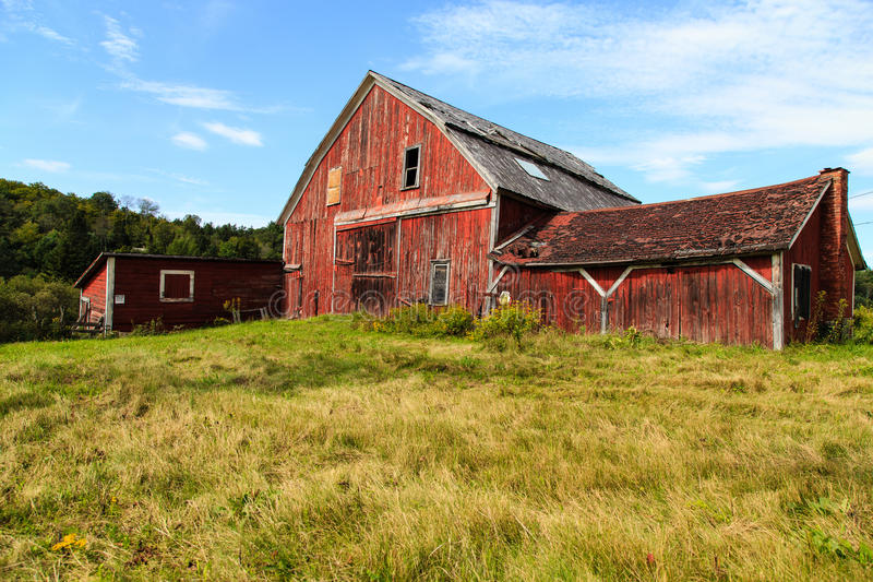 Old Falling Down Barn stock photography