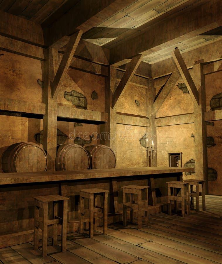 Download Old fantasy tavern stock illustration. Illustration of background - 23125662