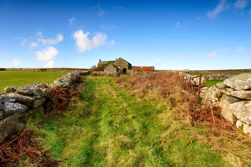 Old Farm in Cornwall. An old derelict farm house near Penzance in Cornwall royalty free stock photo