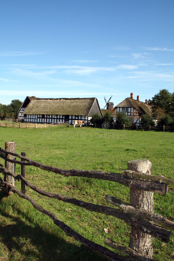 Download Old Farm field mill stock image. Image of barn, tudor - 1222129