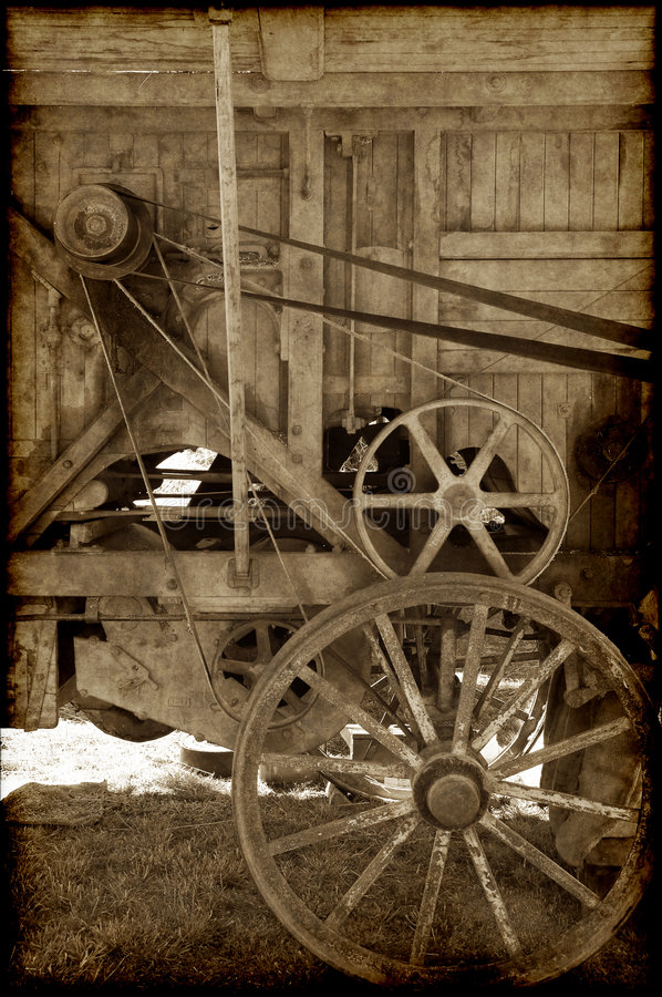 Download Old farm machinery stock photo. Image of pulleys, machine - 8105026