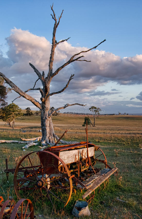 Download Old Farm Machinery In Field Stock Image - Image: 10968665