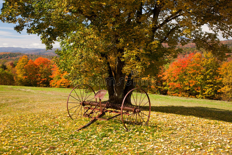 Old farm rake in Vermont royalty free stock photos